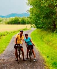 Al and Diane biking in New York