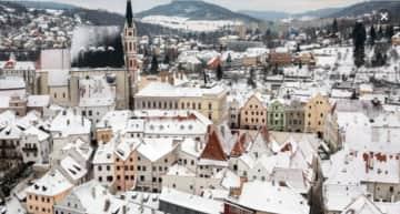 Cesky Krumlov in winter
