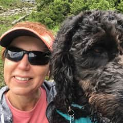 Onnolee and Axl out hiking