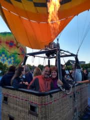 Early balloon ride, back to walk w/dogs