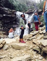 Long hike to the top at Glenn Onoko Falls