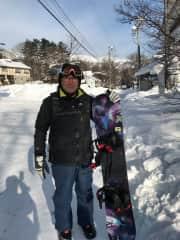 Dan in Hakuba, Japan - skiing & snowboarding
