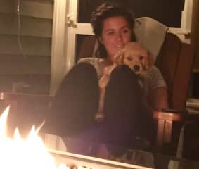 Emily and Maddie mesmerized by fire!