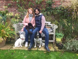 (Adoptive) Family Portrait in Stroud - Handsome Theo, Lady E., and friendly Sammy
