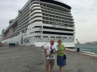 David and Marg..... cruising from Dubai to Italy