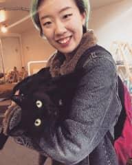 With Nina a black cat!