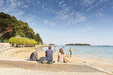 Our nearest beach Kerbilouet at Arradon.