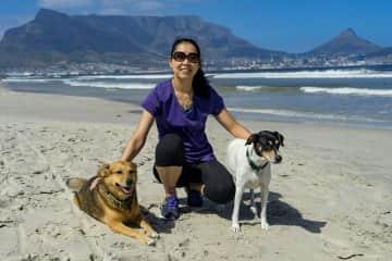 Bella and Tara in Cape Town