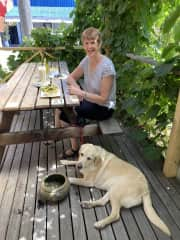 A lovely lunch out with Bella in Talbot