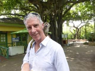 James monkeying around in Cartagena