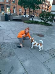 Hanging around with Charlie, an adorable beagle whom I was looking after in Copenhagen