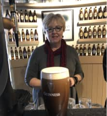 Learning to pour the perfect pint of Guinness, Dublin, Ireland 2017
