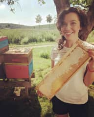 Helping out with a honey harvest