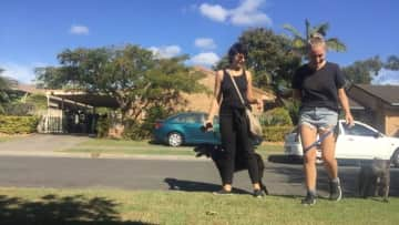 My good friend Giulia and I during our first house sit  in Australia