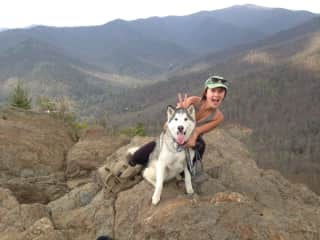 dog sitting in Asheville -- I like to be active