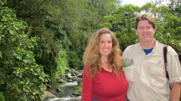 Us in Costa Rica -- we've been to this awesome country several times and love it