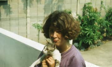 Me and our cat Liz, 1995