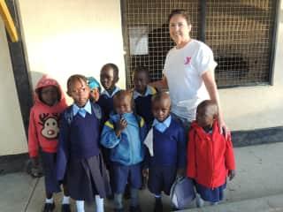 Nursery school children in Kenya