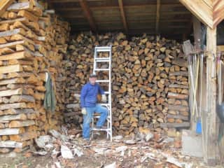 Mal and his Swiss precision woodpile
