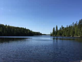 Canoe camping up in the Boundary waters near Canada