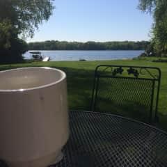 Morning coffee on my deck