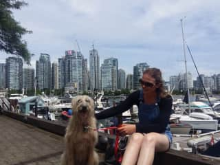 Sweet and smart Nessa loved her walkings in the sightseen of Vancouver