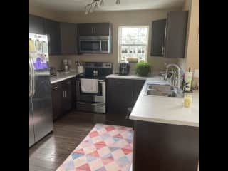 Full kitchen with dishwasher. Feel free to utilize the air fryer, kitchen aid mixed, and all other appliances.