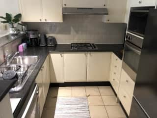 The kitchen has everything you need. Gas stove, electric oven, dishwasher. I also have an electric percolator and a slow cooker.