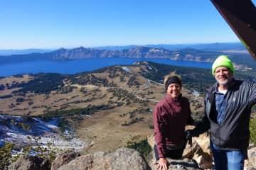 Crater Lake hike in Oregon.