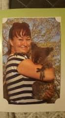 2017 holding a koala in Australia.