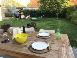 BBQ in a fully south-facing, enclosed garden