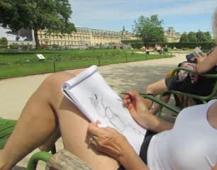 A Paris park offers much subject matter