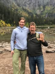 Brian and daughter after a hike to Avalanche Creek, Glacier Park. Just a beautiful!