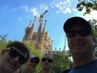 Us at Sagrada Familia Barcelona 2018