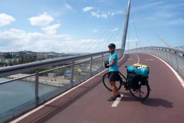 I love traveling by bike