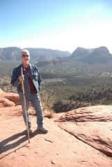 Roger hiking in Sedona, Arizona