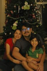 My husband, my daughter and I