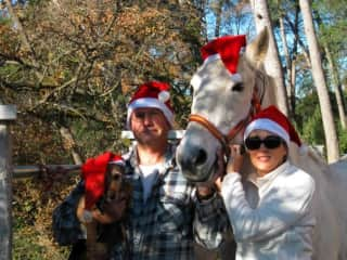 One Christmas in Spain with My friend, Luis, and lovely Lucero and Loli.