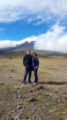 At vulcano Cotopaxi (Ecuador) behind us 2019