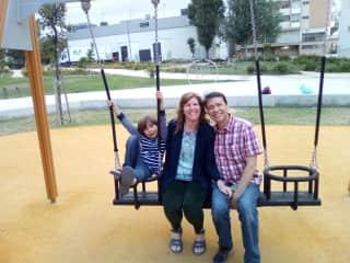 Lynn, Alex & Sebastian Enjoying the Playground!