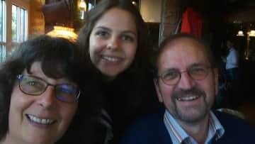 Helene, my husband theo and I