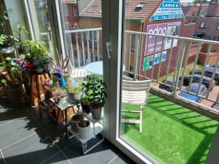 Sunny front terrace