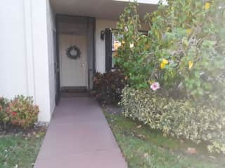 My front entrance.  Lower unit condo one of 17 in our two story building.