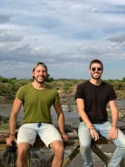 Fernando and Victor in Masai Mara, Kenya