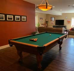 Downstairs there is a pool table and a large screen TV and viewing area.   We get cable, Prime Video and Netflix.  There are also 2 bedrooms and 2 full baths.