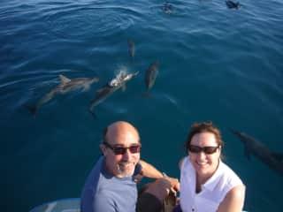 Scuba diving with my husband in Kauai.
