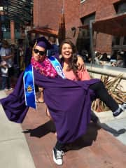 My goofball younger brother (and bestie) and I at his college graduation