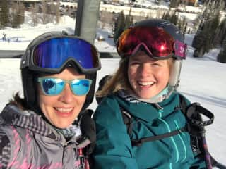 skiing with my mom