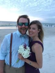 James and Stephanie celebrating love