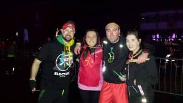 Electric fun run with family